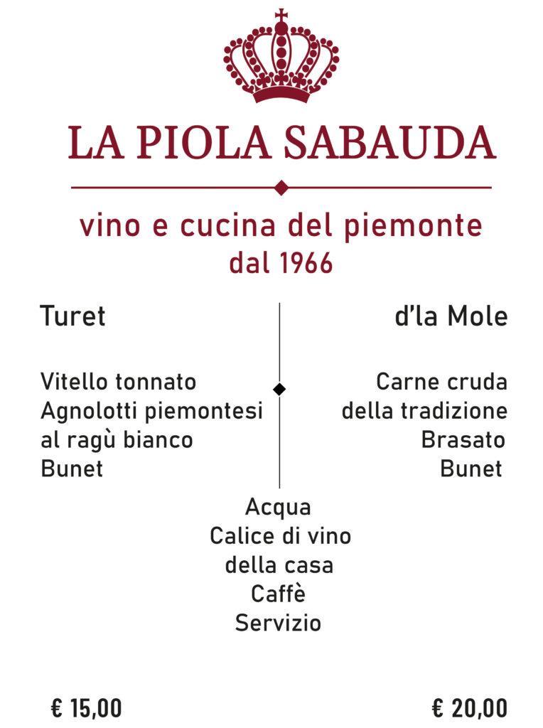 la piola sabauda menù degustazione a torino via giolitti 10