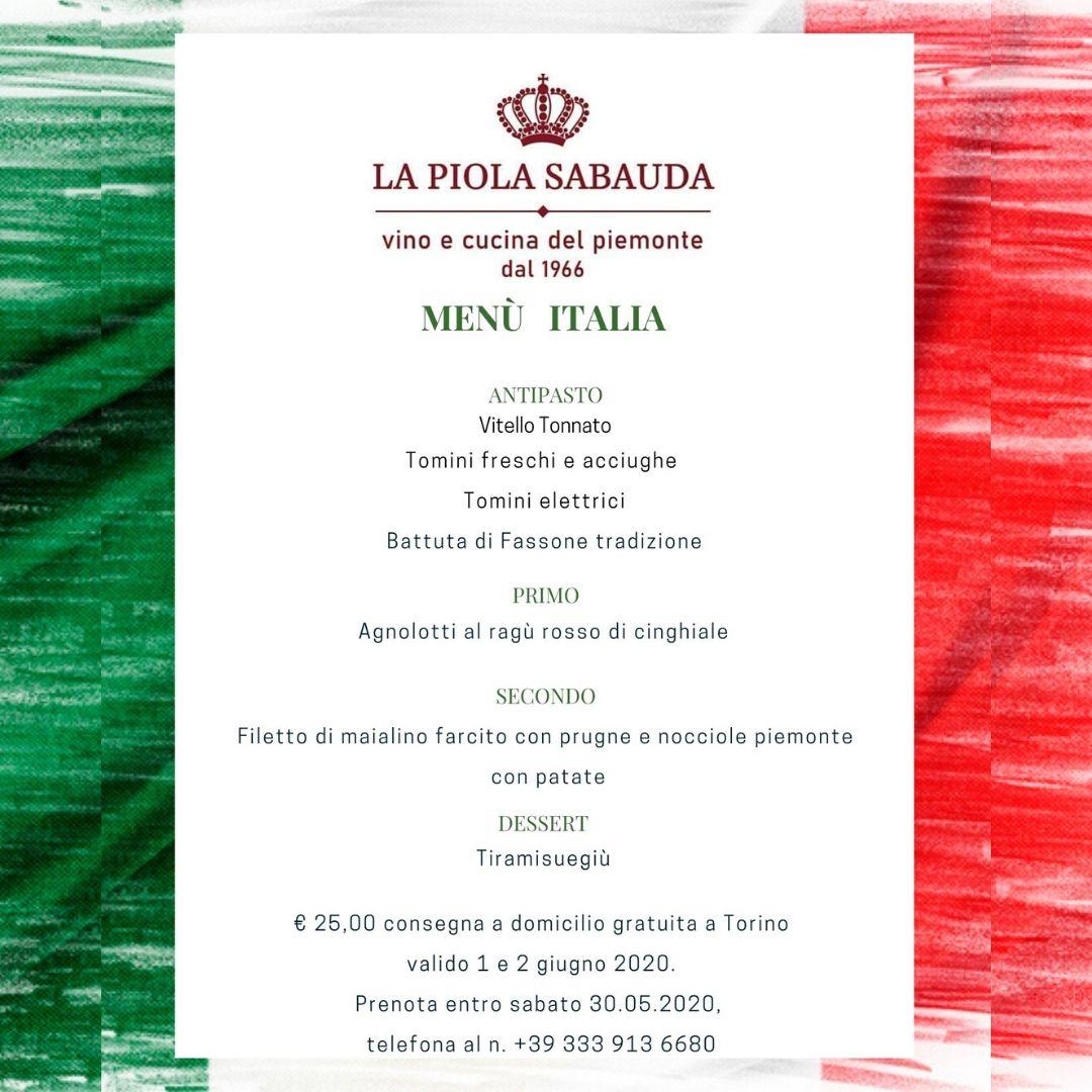 menù italia a domicilio dalla piola sabauda